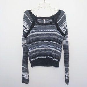 ✨ Free People crewneck striped textured sweater ✨